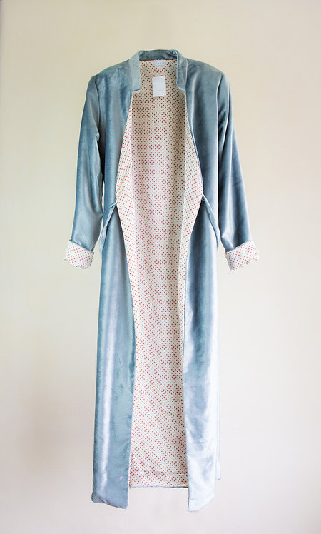 Light Blue 'Flora' Coat