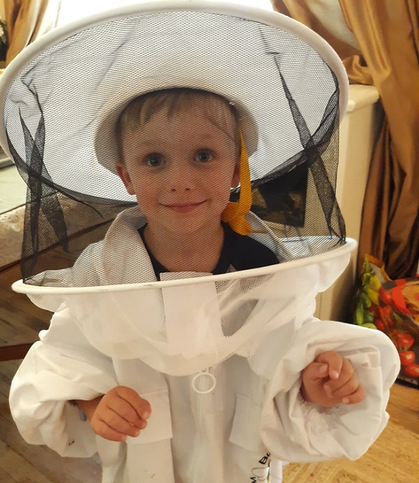 Youngest family beekeeper