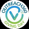 Outreach360 Giving Day Logo Sticker 2x2.