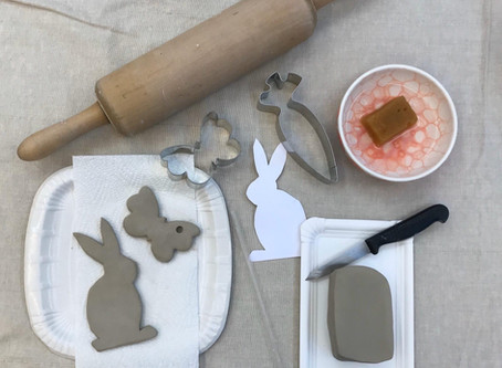 Tonen mit Ausstechformen / Play with Clay with Cookie Cutters
