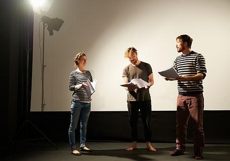 Actors Reading Script