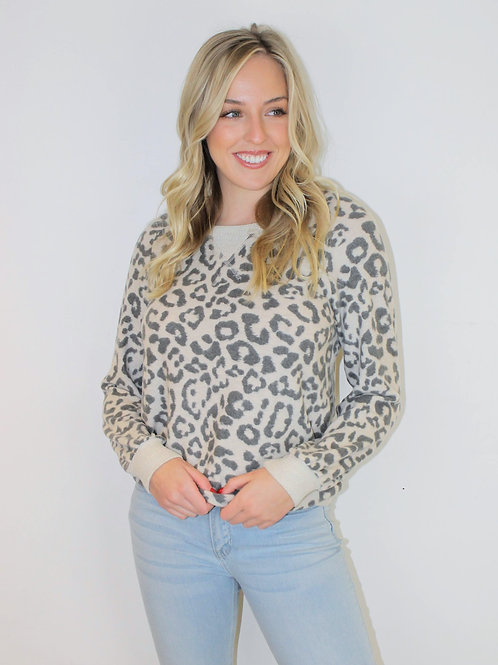Brushed Fleece Leopard