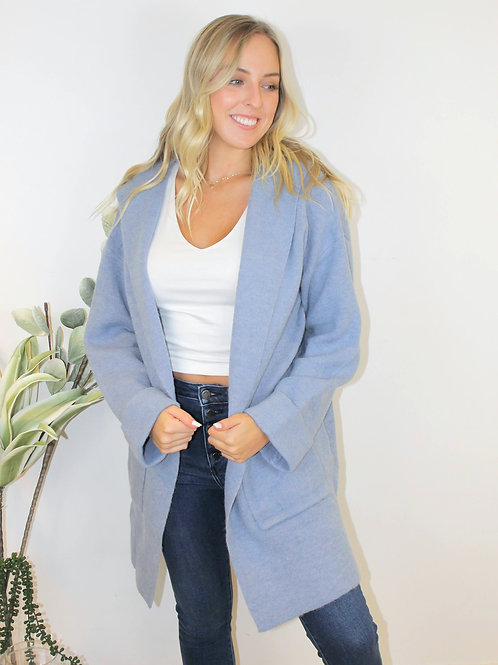 2 Pocket Hooded Sweater Coat