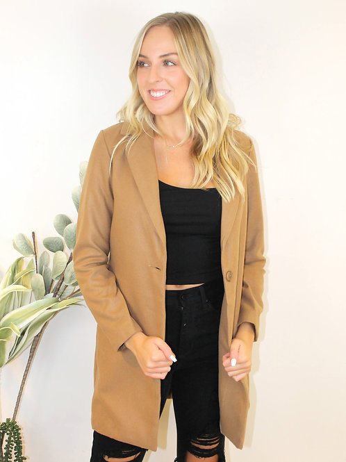 1 Button Wool Coat