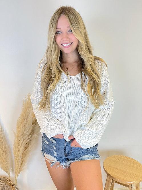 Big Pocket V Neck Sweater