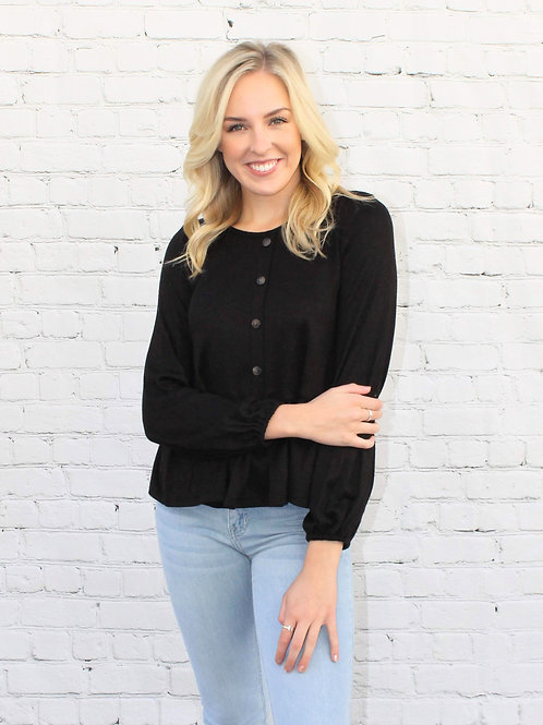 Knit Long Sleeve Cashmere Tier