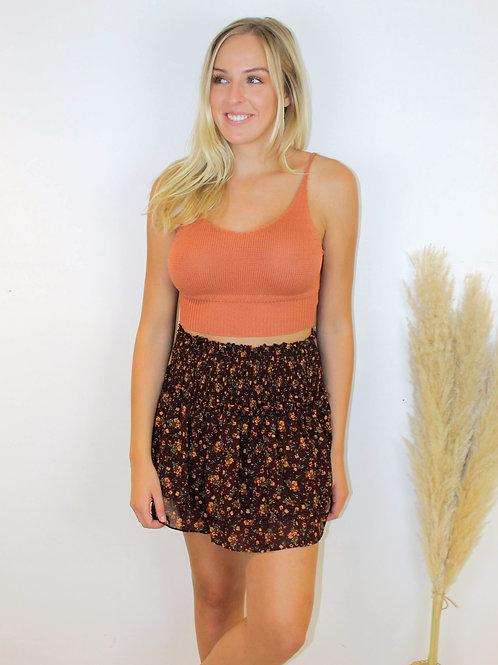 Ditsy Mini Skirt