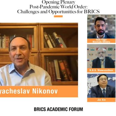 Вячеслав Никонов: Пандемия стала серьезным вызовом для стран БРИКС