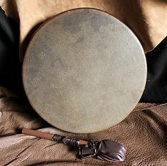 Horse rawhide drum, Portland, Oregon.jpg