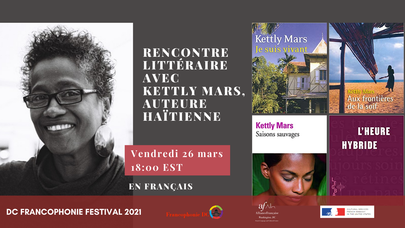 Book Talk with Kettly Mars, Haitian Author