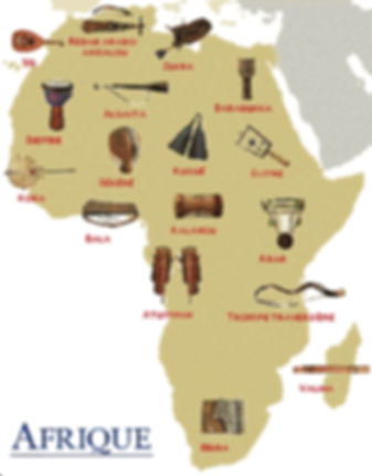 Association Acadiat   Musique africaine   Carte afrique   79 Niort