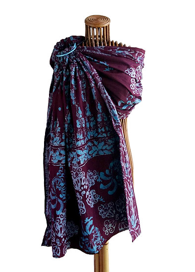 Batik Sling (Sky Blue and Aubergine)