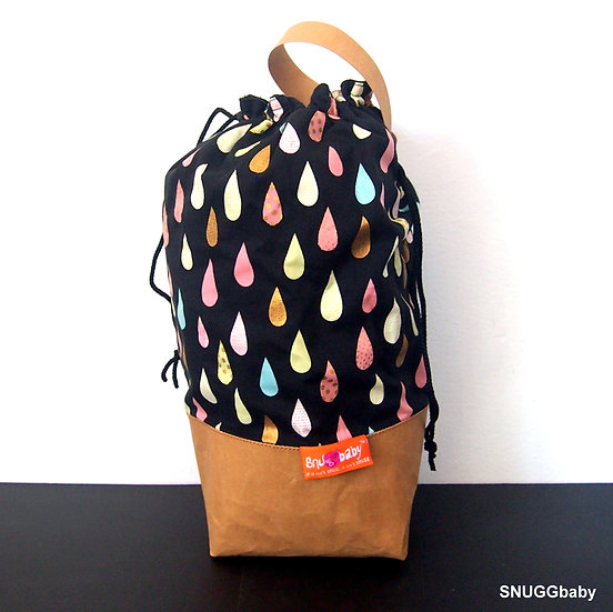 SNUGG Carrier Bag : Japan Series Raindrops Black