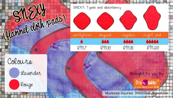 SNEXY : Flannel Cloth Pads