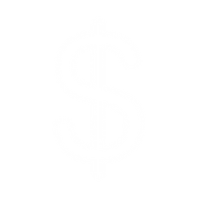 White Dollar Sign