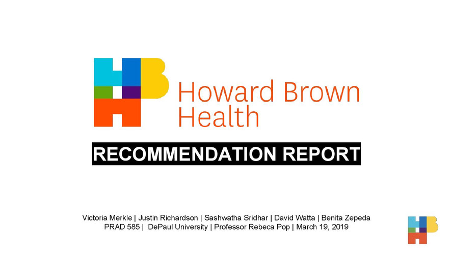 Howard Brown Health Final Recomendation
