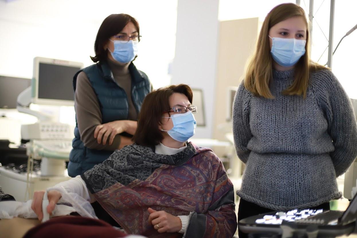 практическая част на курсах УЗИ для врачей