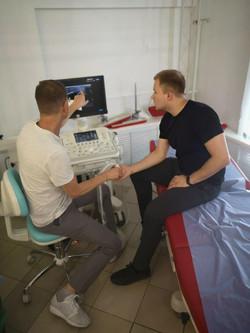исследование анатомии суставов на курсах УЗИ в травматологии