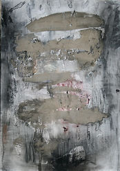 Torso-Self portrait with smears, charcoa