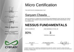 Cybrary Nessus Certificate