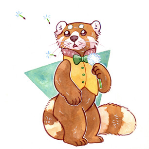 Red panda design for client, 2018.