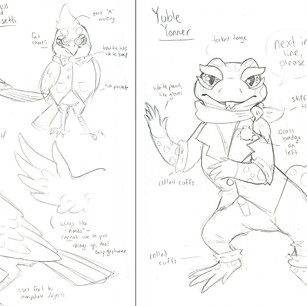 Character sheets for Taxicat