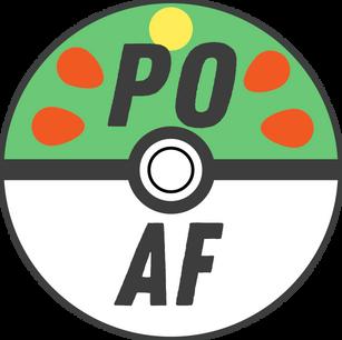 Logo design for POAF, a Pokemon fan community. 2019