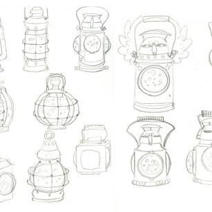 Visual development for a railway lantern
