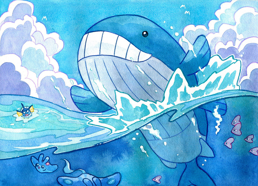 Whale illustration, 2017.