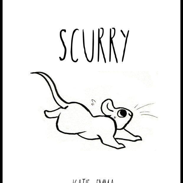 Book jacket design for Scurry, published 2018 Rat Prince Press