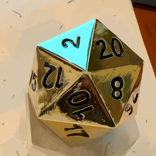 Painting study of dice, 2021
