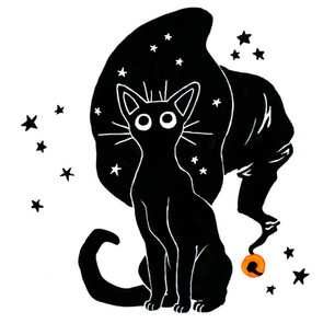 Witch cat design for client, 2018.
