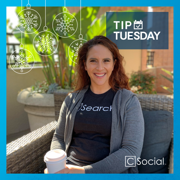 Graphic for C Squared Social Tip Tuesday series, 2019