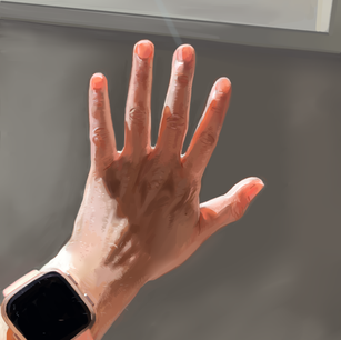 Painting study of my hand. 2020