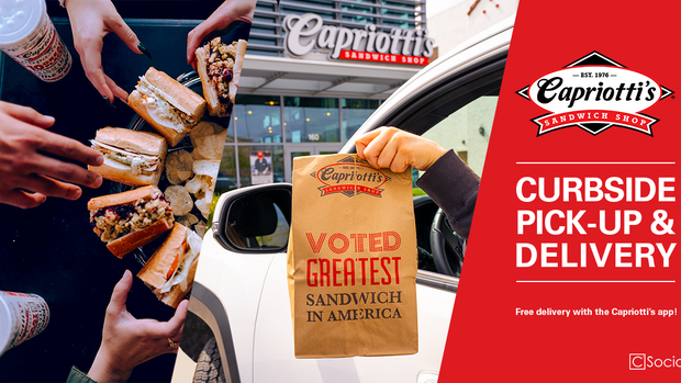 Social media content for Capriotti's, 2020