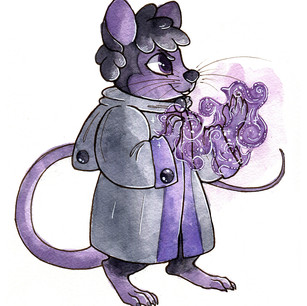Character design. Watercolor and ink.