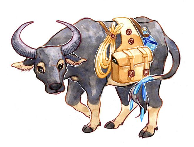 Freelance commission design of a caribao