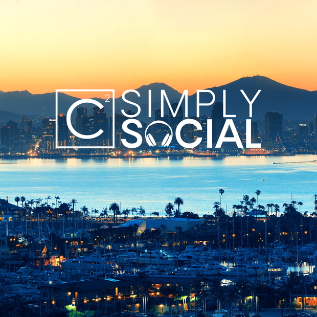 Simply Social Vlog graphic for C Squared Social, 2019