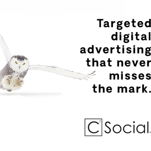 Postcard advertisement designed for C Squared Social, 2019