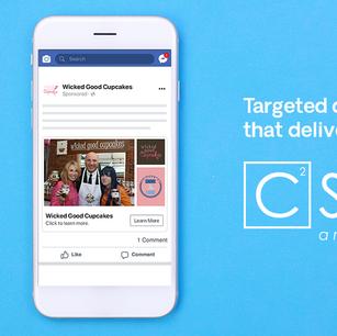 Facebook ad for C Squared Social, 2019
