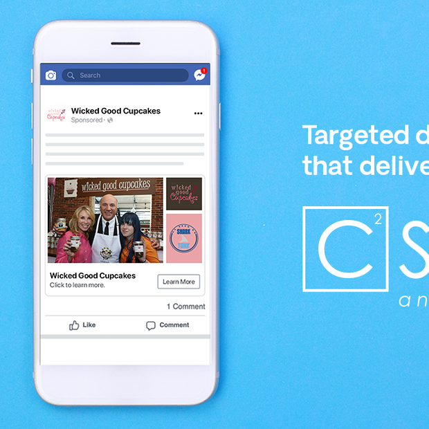 Facebook ad for C Squared Social, 2019