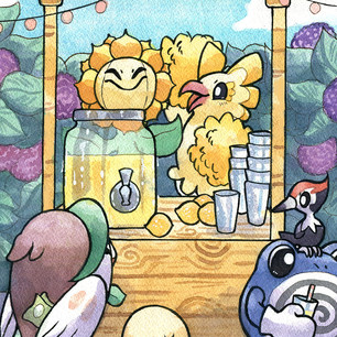Illustration for PokeWorld Magazine. Watercolor and ink.