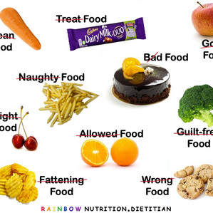 Why do we place moral judgement labels on our foods?