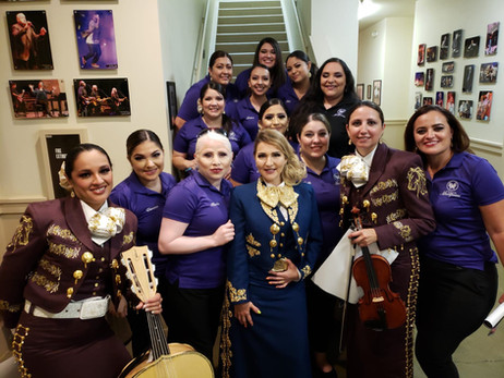 Mariposas with Alicia Villarreal after the concert