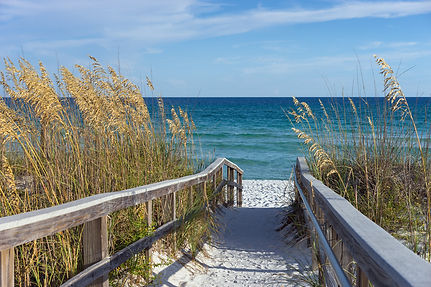 Walkway to the beach and ocean