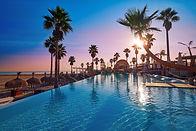 Tropical resort swimming pool