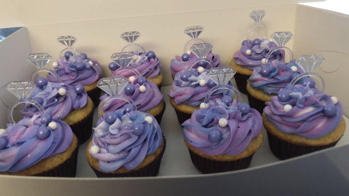 PurpleBridalShowerCupcakes