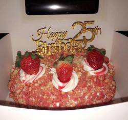 Strawberry Crunch Birthday Cake