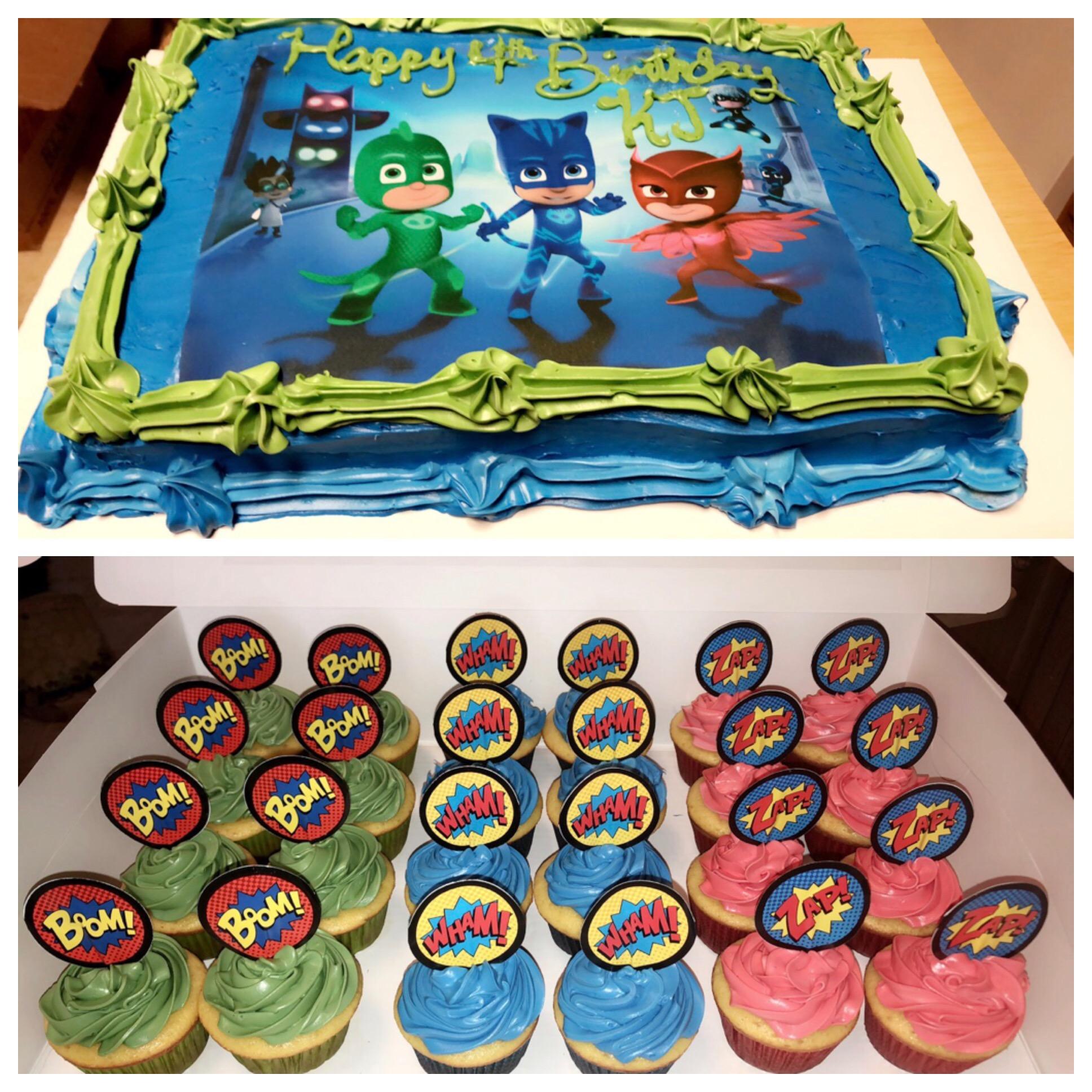PJmaskBirthdayCake&Cupcakes