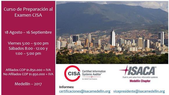 Agosto: Curso CISA Medellín